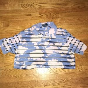 Polo Ralph Lauren Cropped Bleach Washed polo